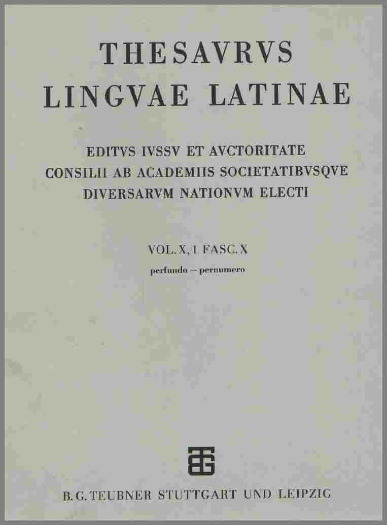 Thesuarus Totius Latinitatis